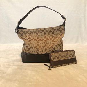 Coach handbag and wallet set